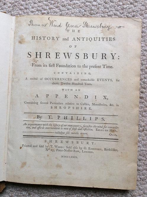 Phillips History of Shrewsbury