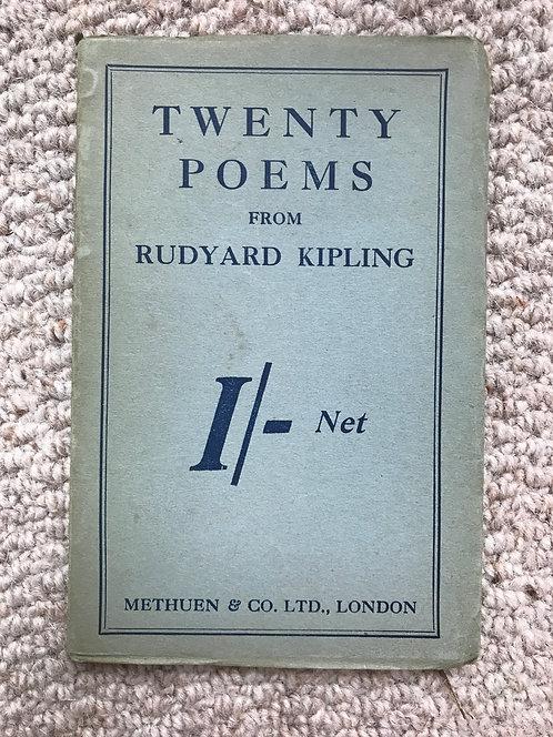 Twenty Poems  Rudyard Kipling