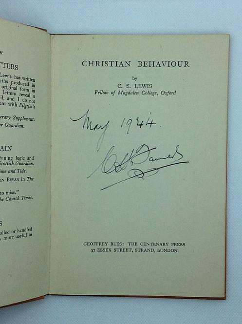 Christian Behaviour by CS Lewis 1943