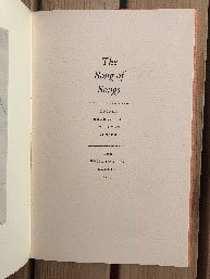 The Song of Songs Copper engravings by Ru Van Rossum Second impression 1968
