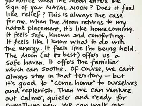 Moon notes - October 11, Moon in Capricorn