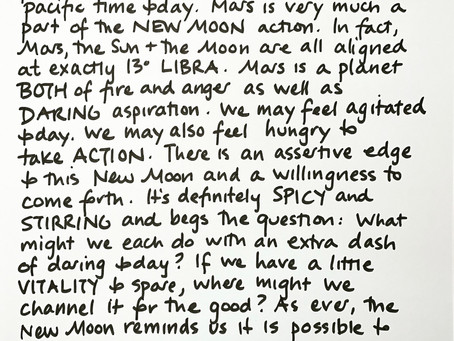 Moon Notes - October 6, New Moon in Libra