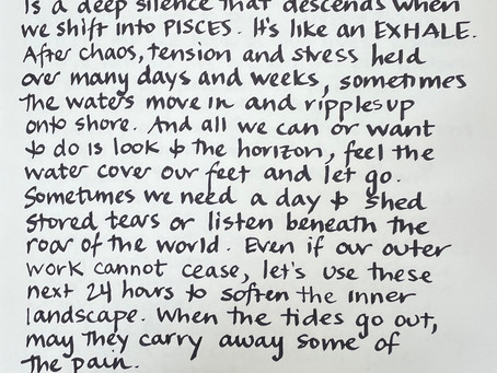 Moon Notes - January 15, Moon in Pisces