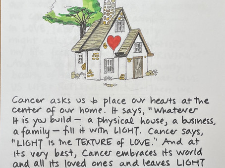 Moon Notes - September 28, Moon in Cancer