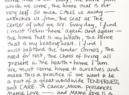 Moon Notes - October 8, Moon in Cancer