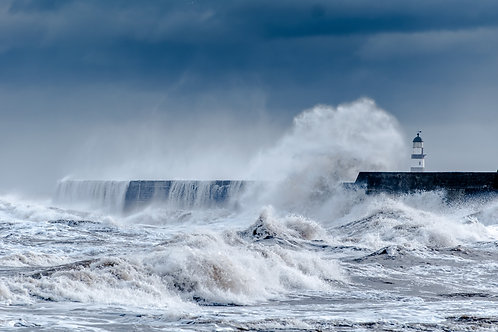 Stormy Seaham Sea