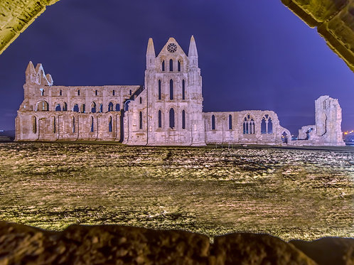 Whitby Abbey by Night