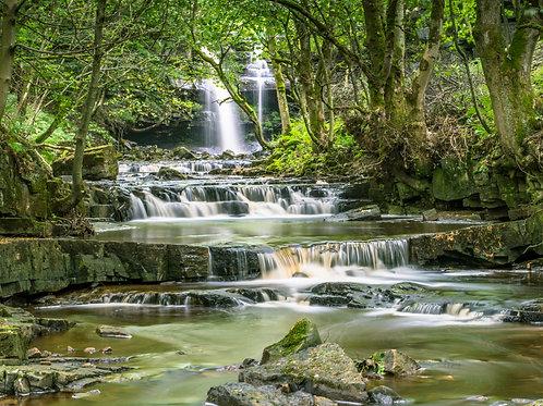 Gibson's Cave Waterfall, Bowlees, Teesdale