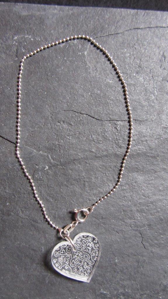 Swirl Heart Bracelet