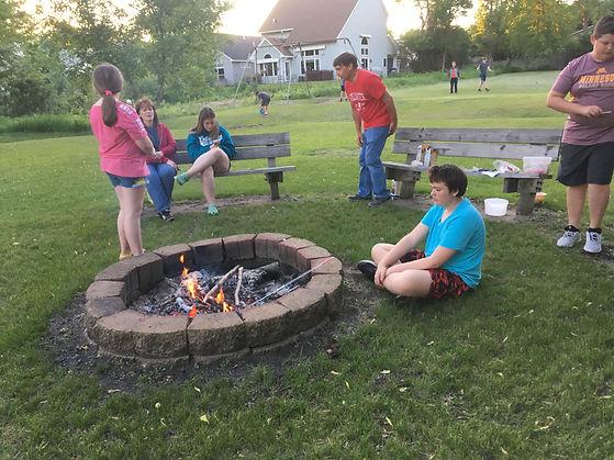 Seekers 061019 bonfire  s'mores.JPG