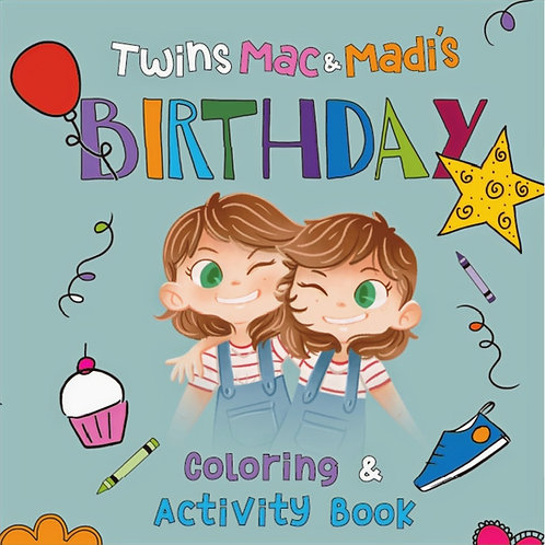 Twins Mac & Madi Coloring & Activity Bundle