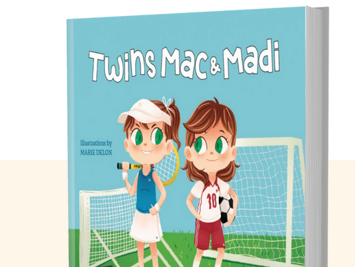 New Children's Book, Second in the Series, Celebrating Individuality in Twins