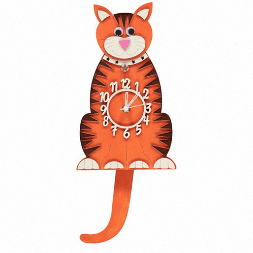Ginger Cat Pendulum Clock