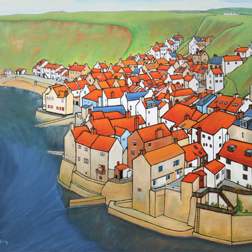 Looking Across Staithes,by David Utting