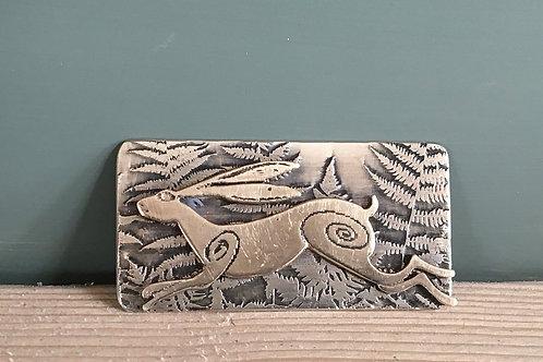 Running Hare Brooch