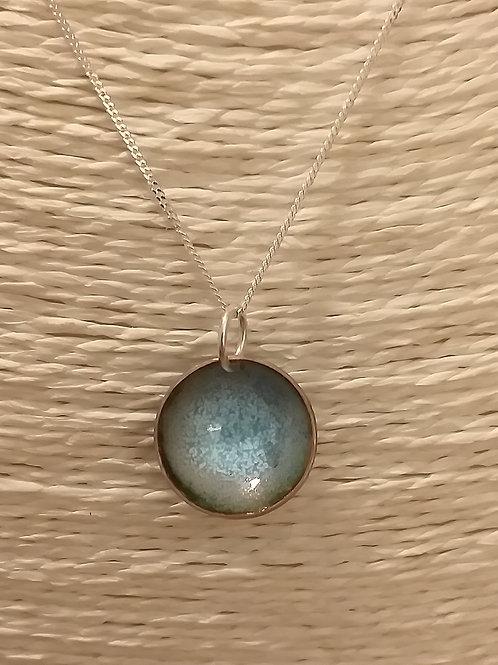 Turquoise Mix Circular Pendant