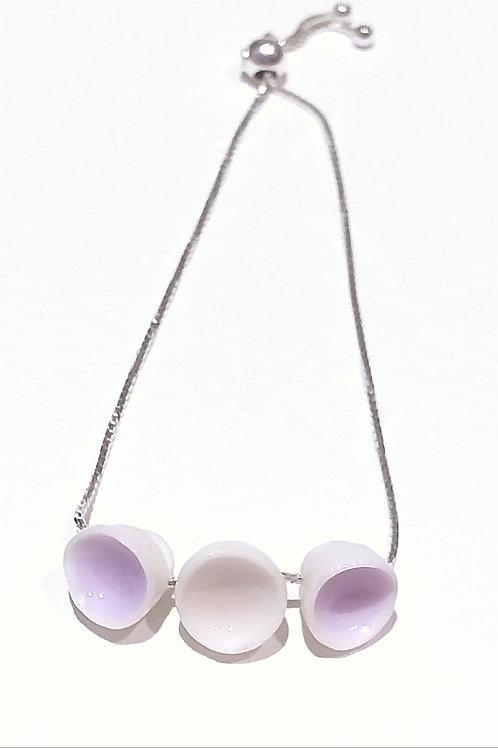Lavender and Pink Porcelain Bracelet