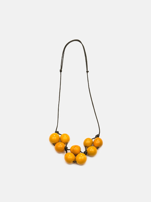 Cluster Necklace- Yellow