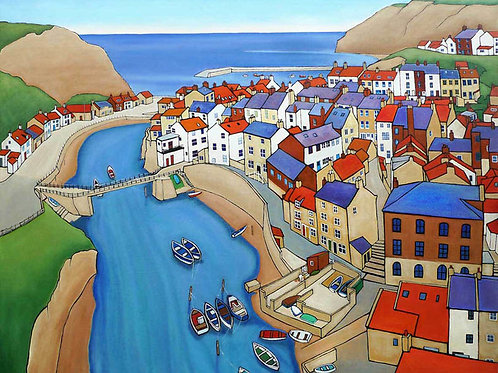 High Tide, Staithes, by David Utting