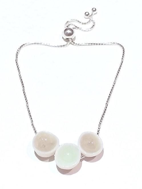 Earth and Mint Porcelain Bracelet