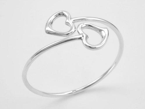 Hearts Silver Bangle
