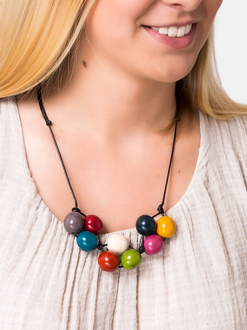 Cluster Necklace- Multicolour