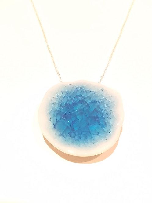 Blue Porcelain Pendant