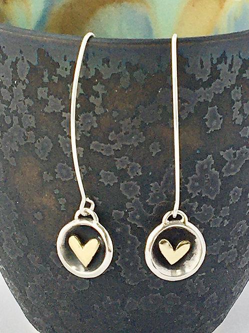 Heart Cup Long Earrings