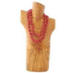 Acai Berry Long Necklace- Red