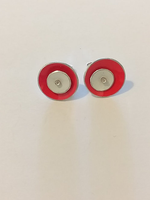 Red and White 2 Dome Studs