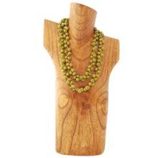 Acai Berry Long Necklace- Green