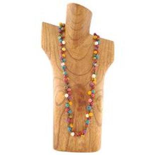 Acai Berry Long Necklace- Multicolour