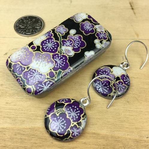 Sakura Amethyst Earrings
