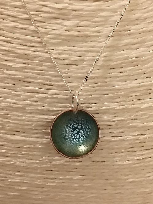 Green Mix Circular Pendant
