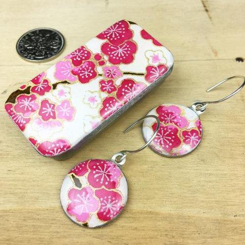 Sakura Fuschia Earrings