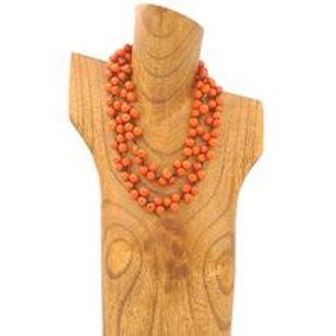Acai Berry Long Necklace - Orange