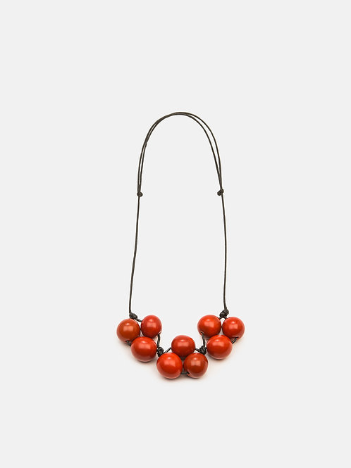 Cluster Necklace- Orange