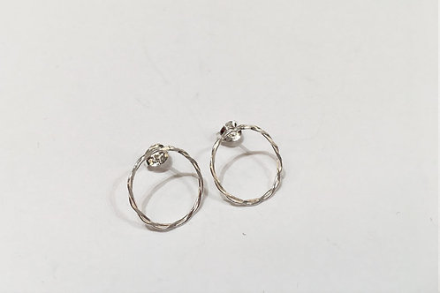 Small Twisted Hoops Studs