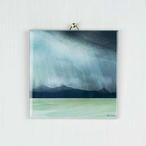 Rainstorm, Isle of Skye Hanging tile