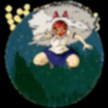 Ilustración La Princesa Mononoke (Hayao Miyazaki)