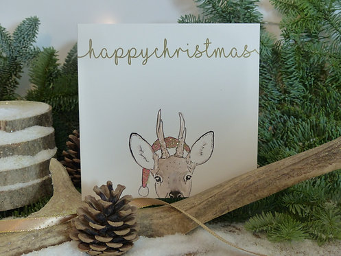Christmas Card Roe Deer