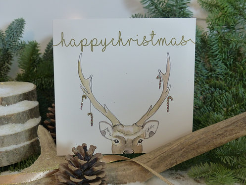 Christmas Card Sika Deer