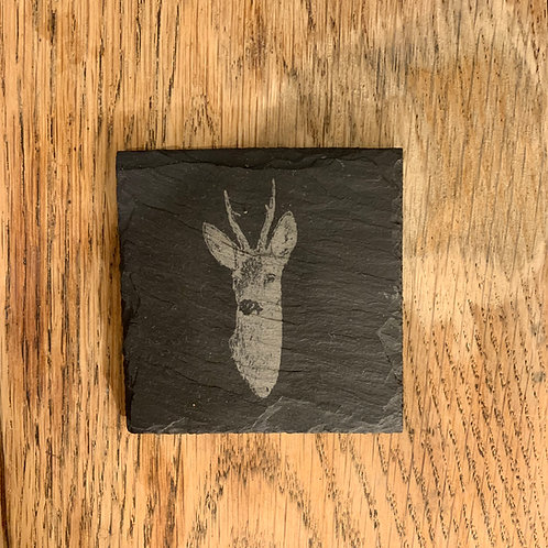 Welsh Slate Coaster - Roe Buck