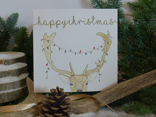 Christmas Card Fallow Deer