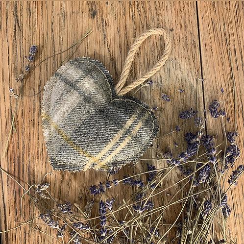 Mustard Tweed Lavender Heart