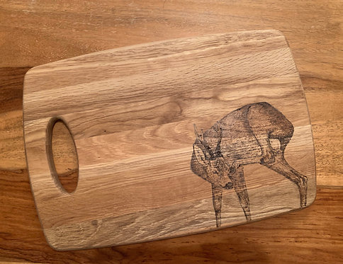 Board Engraved with Scratching Roe