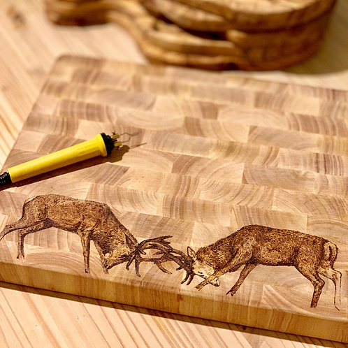 Red Stags Fighting Butchers Block