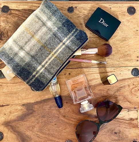Luxury Tweed Cosmetic Bag Lichen