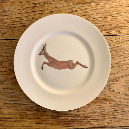 Gold Jumping Roe Small Plate
