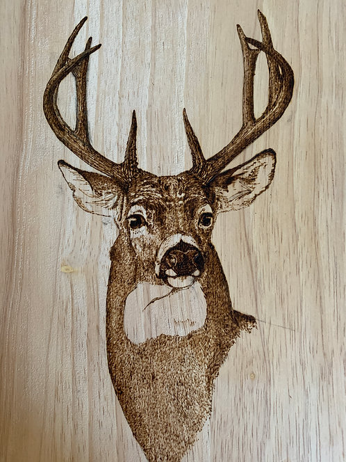 Board with Whitetail Engraving